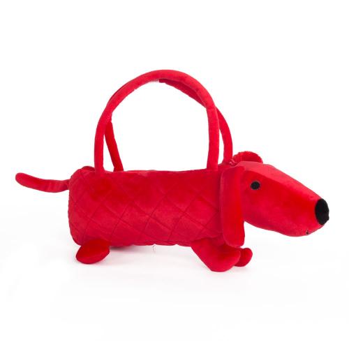 Собачка-сумочка красная, 35 см