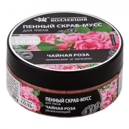 Пенный Скраб-Мусс для Тела Чайная Роза 200гр КНК