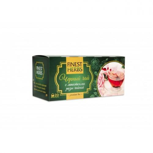 Черный Чай с Чайной Розой 30гр Finest Herbs
