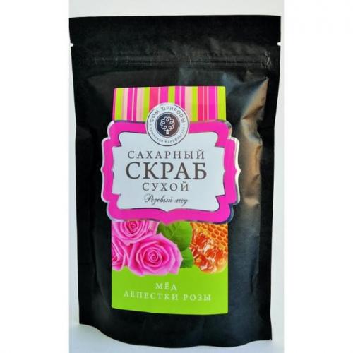 Сухой Сахарный Скраб для Тела Мёд, Лепестки Розы 250гр ДП
