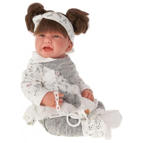 3390G Кукла Ребека в сером, 40 см