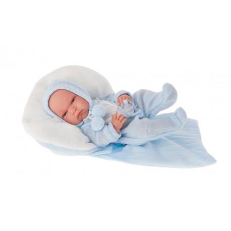 6023B кукла-младенец Диана в голубом, 33 см