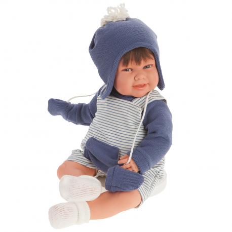 2005 Кукла Кристиан в голубом озвученная (мама, папа, смех), 52 см