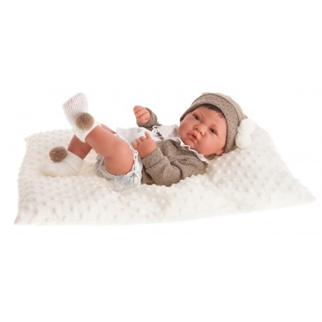 5033W кукла-младенец Белен в белом, 42 см