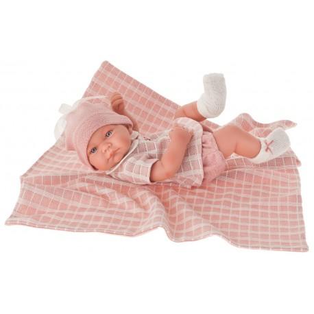 5046P кукла-младенец Дафна в розовом, 42 см
