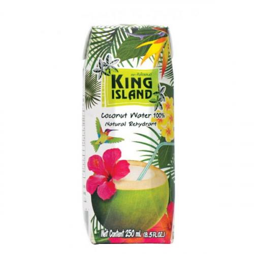 KING ISLAND. 100% Кокосовая вода без сахара 250мл. 1/36
