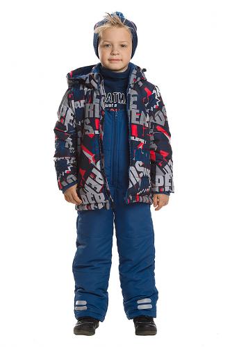 Комплект (Полукомбинезон+Куртка) #146064Синий