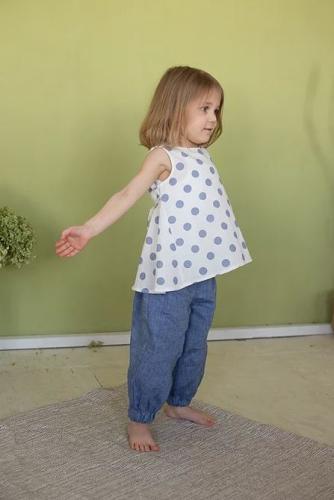 Л 21-7 бриджи для девочки ELF лен джинс