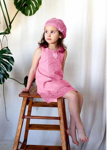 платье для девочки Л17-7 Майя чайная роза