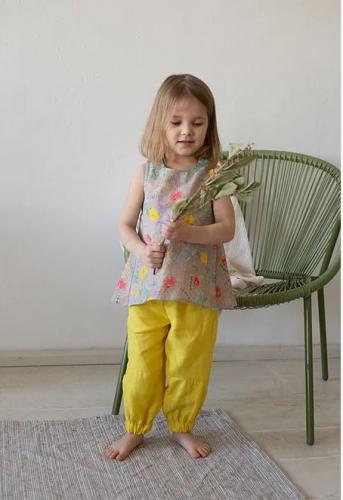 Л 21-8 блуза для девочки ELF рами крапива