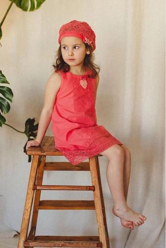 платье для девочки Л17-7 Майя коралл