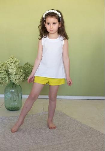 Л 21-9шорты для девочки желтый