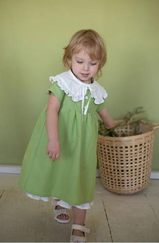 платье для девочки Л21-6 Вита фисташка