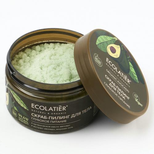 ECL GREEN Avocado Oil/5164/ Скраб-пилинг для тела Глубокое питание Серия ORGANIC AVOCADO, 300 г