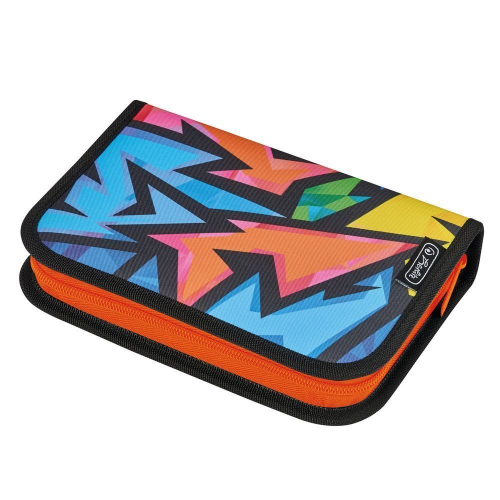 Пенал пустой Herlitz, 20,3x14x3,5см, Neon Art