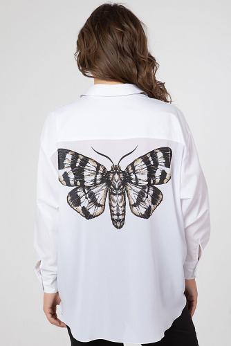 Блуза #214300Белый