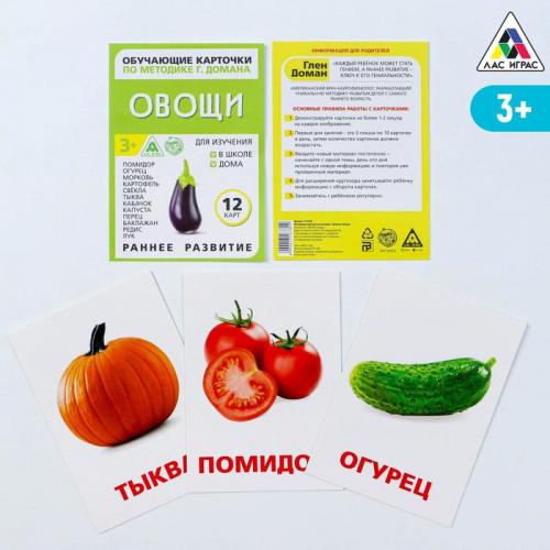 Обучающие карточки по методике Г. Домана «Овощи»