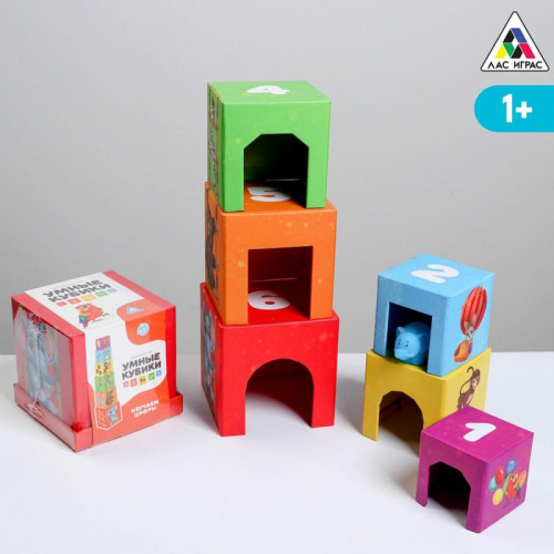 Развивающая игра «Умные кубики. Изучаем цифры», 1+