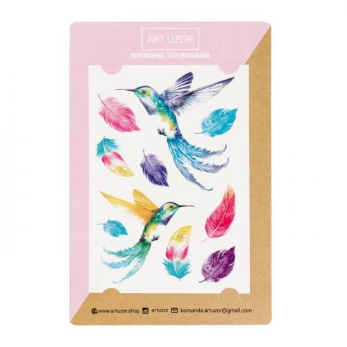 Наклейки‒тату Colibri, 14 × 21 см