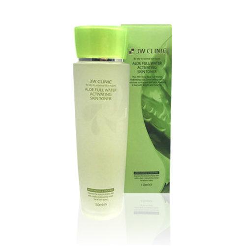 Тоник для лица увлажняющий с экстрактом алоэ вера 3W Clinic Aloe Full Water Activating Toner 150ml