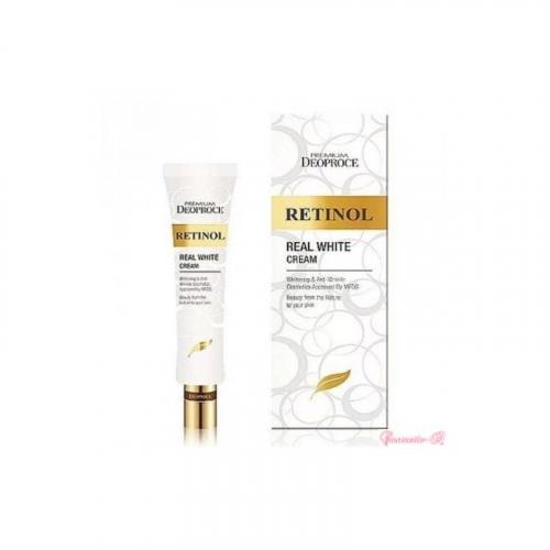 DEOPROCE Крем для век и носогубных складок с ретинолом Premium Retinol Real White Cream 40 ml