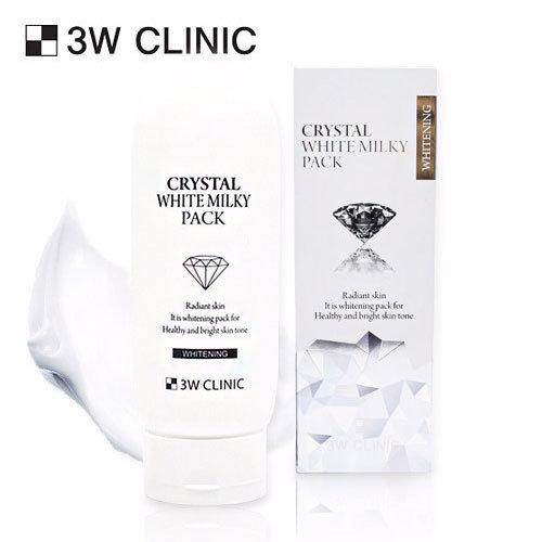 Маска для лица осветляющая на основе молока 3W CLINIC Crystal White Milky Pack 200g