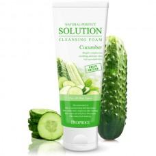 DEOPROCE Пенка для умывания с экстрактом огурца Natural Perfect Solution Cleansing Foam Cucumber 170 g