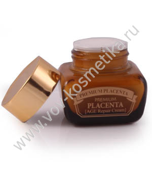 Крем для лица c плацентой возрастное восстановление 3W CLINIC Premium Placenta Intensive Cream 50ml