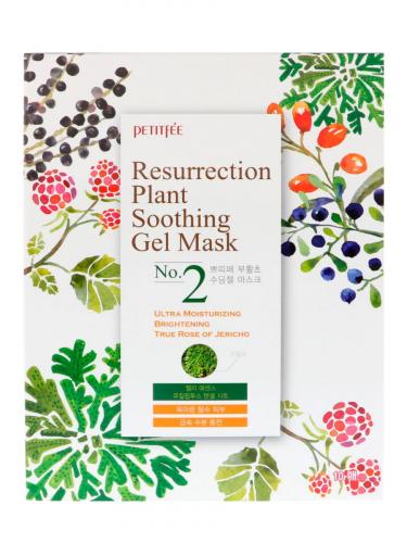PETITFEE Маска-салфетка восстанавливающая для лица с экстрактом Иерихонской розы Petitfee Resurrection Plant Soothing Gel Mask №2 30g