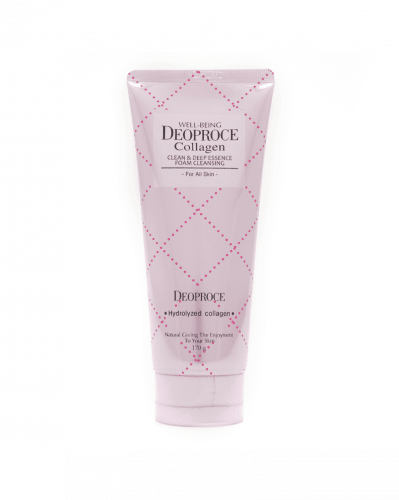 DEOPROCE Пенка для умывания с морским коллагеном Well-Being Collagen Clean & Deep Essence Foam Cleansing 170 g