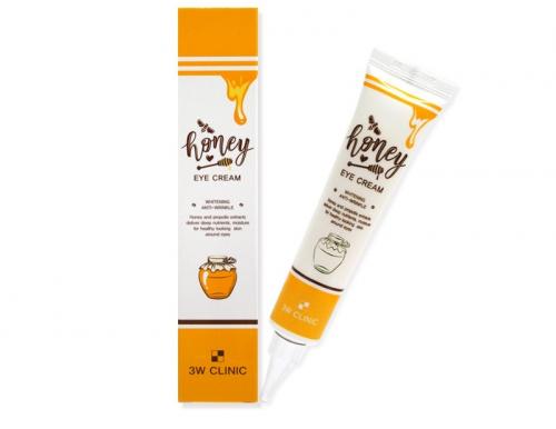 Крем для кожи вокруг глаз питательный с экстрактом меда и прополиса 3W Clinic Honey Eye Cream 40 ml