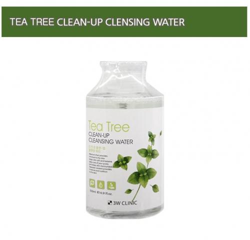 Мицеллярная вода c экстрактом чайного дерева 3W Clinic Tea tree Clean-Up Cleansing Water 500ml