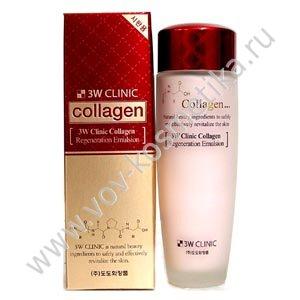 Эмульсия для лица регенерирующая с коллагеном 3W CLINIC Collagen Regeneration Emulsion 150ml