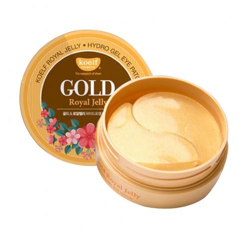 Гидрогелевые патчи для области вокруг глаз с золотом и маточным молочком Koelf Gold & Royal Jelly Eye Patch 1.4g * 60 шт