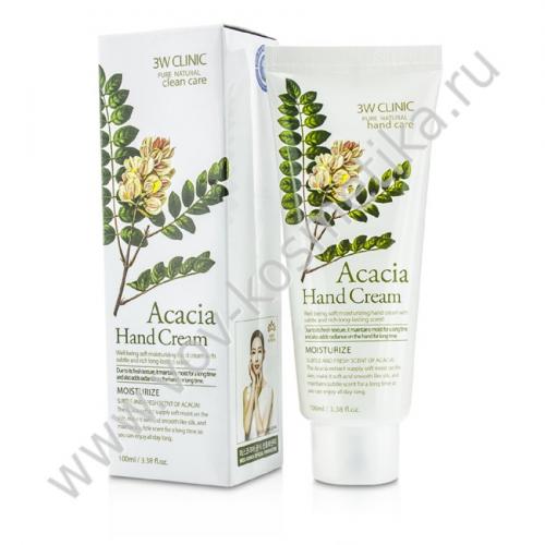 Крем для рук 3W CLINIC Hand cream Acacia 100ml