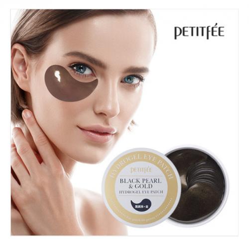 Гидрогелевые патчи для области вокруг глаз с чёрным жемчугом Petitfee Black Pearl & Gold Hydrogel Eye Patch 1.4g * 60 шт