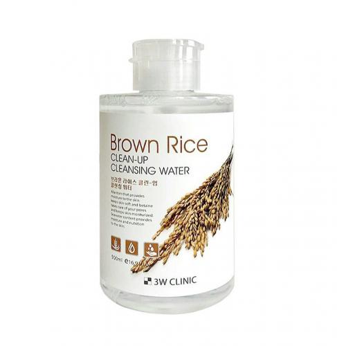 Мицеллярная вода с экстрактом бурого риса 3W CLINIC Brown Rice Clean-Up Cleansing Water 500 ml