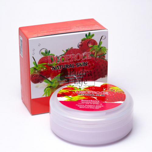 DEOPROCE Крем для лица и тела с экстрактом клубники Natural Skin Nourishing Cream Strawberry 100 g