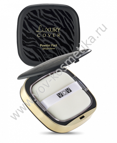 Пудра VOV Luxury Cover Powder Pact (с запасным блоком) SPF 50+ / PA+++ 14 g