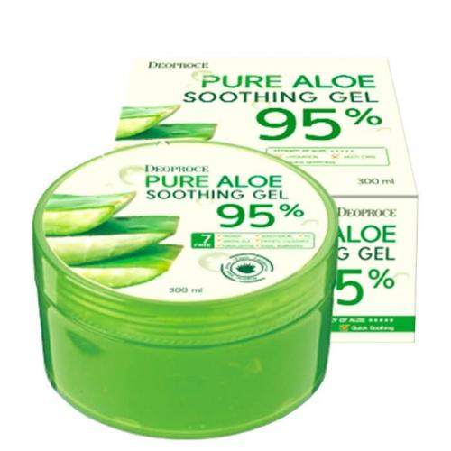 DEOPROCE Универсальный гель с 95% экстрактом алоэ вера Cooling Aloe Soothing Gel 95% 300 ml