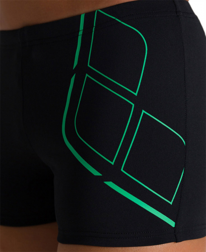 Плавки м ESSENTIALS JR SHORT black-golf green (20-21)