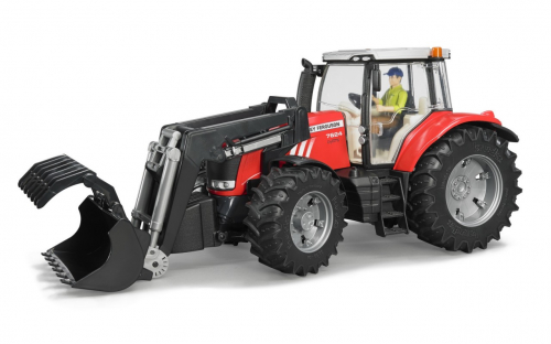 Трактор Massey Ferguson 7600 с погрузчиком
