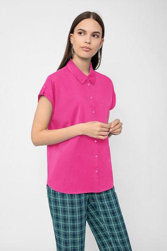 Блуза #222730Ярко-розовый
