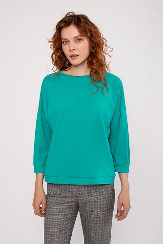 Блуза #222996Бирюзовый