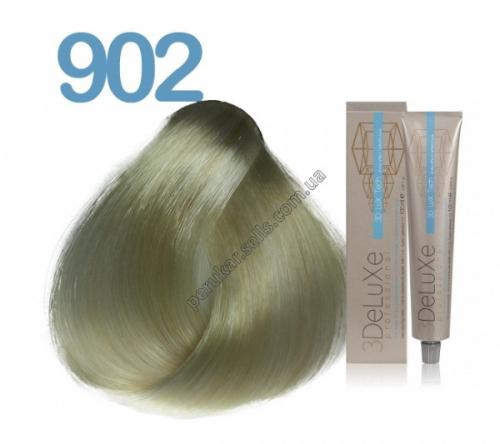 902 Крем-краска для волос 3DELUXE PROFESSIONAL ПЛАТИНОВЫЙ БЛОНДИН; СИЛЬНЫЙ ОСВЕТЛИТЕЛЬ