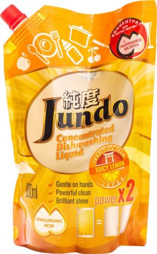 Jundo Конц-ный ЭКО гель с гиалуроновой кис-й д/м.п. и дет.принадлежностей«Juicy Lemon»,800мл