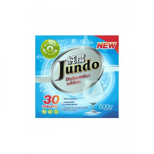 Jundo Таблетки для безопасного мытья посуды в ПММ Active Oxygen  3 в 1,без запаха, 30 шт