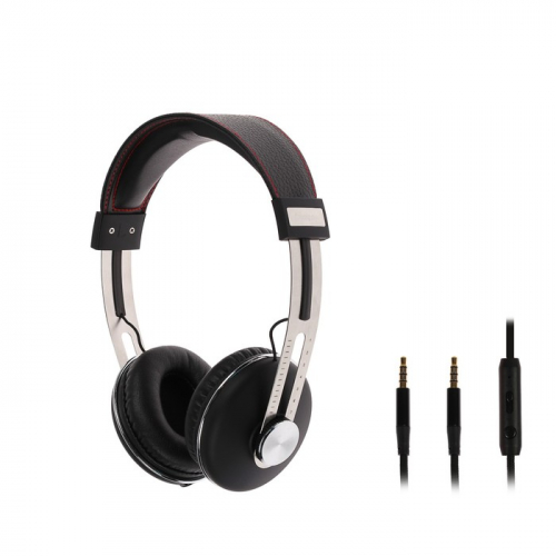 Наушники LuazON Hi-Fi LH -504, накладные, микрофон, регулировка громкости, чёрные