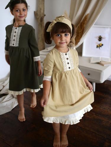 Платье МТ20-4 олива винтаж