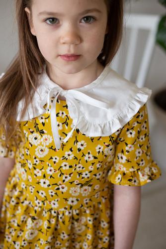 Платье для девочки МТ21-2 горчица